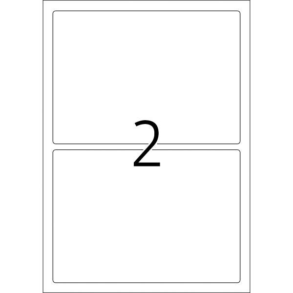 HERMA Etiketten, A4 - 190,0 x 135,0 mm, 25 Blatt, Polyesterfolie weiß matt, wetterfest